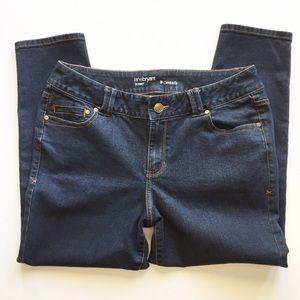 Lane Bryant Dark Wash Skinny Petite Jeans Size 16